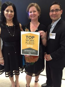 TCGers Collect the 2016 Top Workplace Award