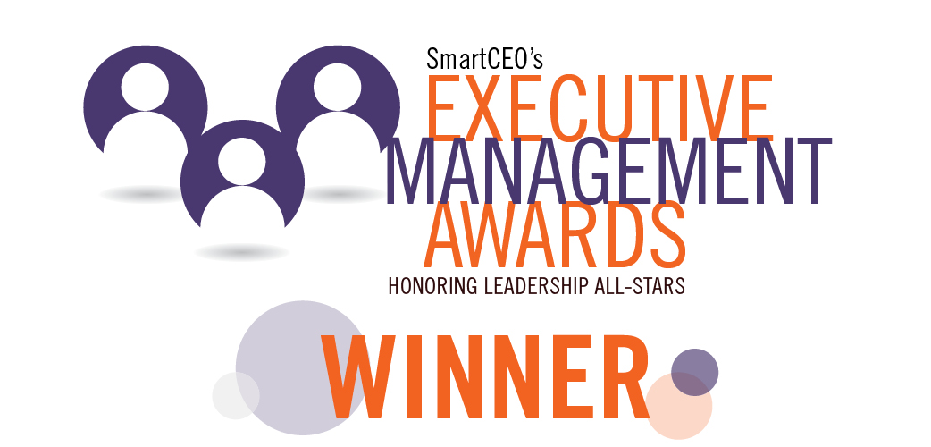2017 SmartCEO Executive Management Award winner emblem.