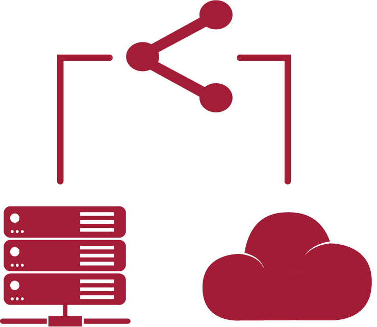 database and cloud icons