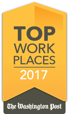 2017 Washington Post Top Workplace Badge