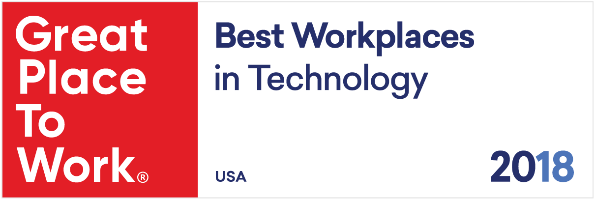 Great Places to Work, 2018 Best Workplaces in Technology logo