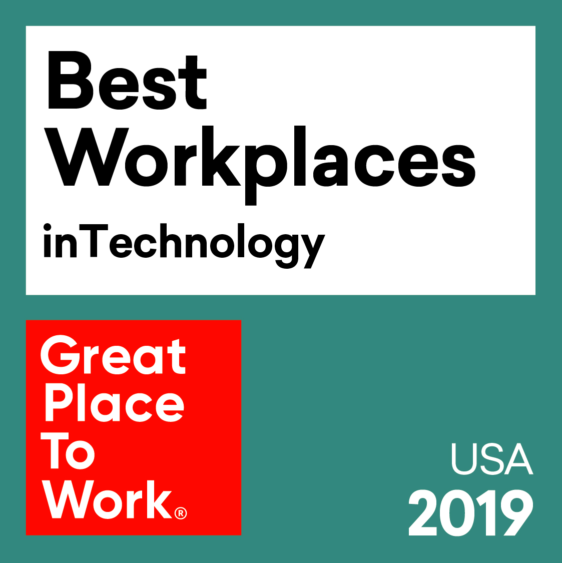 2019 Great Places to Work Best Workplaces in Technology