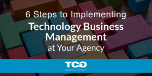6 Steps to Implementing Technology Business Management at Your Agency | TCG