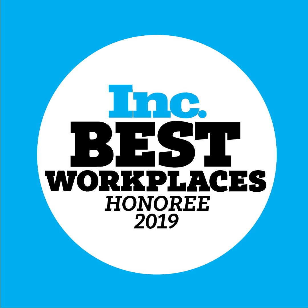 Inc. Best Workplaces Honoree 2019