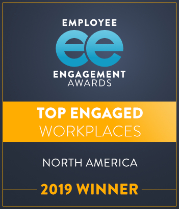 2019 Winner; Employee Engagement Awards Top Engaged Workplaces, North America