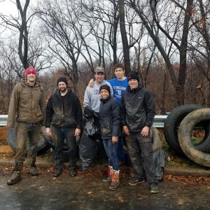 TCGers volunteered with Ward 8 Woods to help clean up Shepherd Park in Washington, DC.