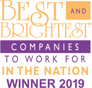Best and Brightest Companies to Work for In the Nation; Winner 2019.