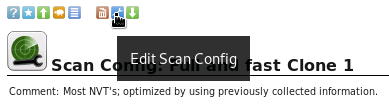 Edit the Scan Configuration