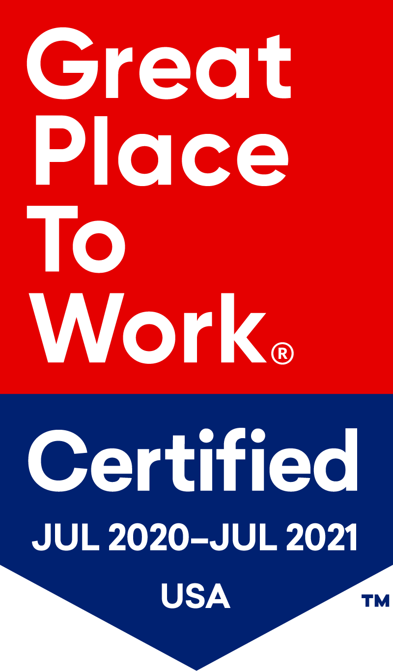 Great Place to Work Certified July 2020-July 2021